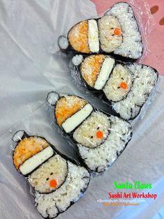 Cuisine Paradise | Singapore Food Blog | Recipes, Reviews And Travel: [Wordless Wednesday] Santa Claus Sushi Art Workshop