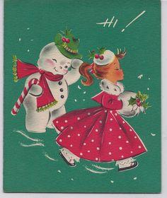 Vintage 50's Unused Greeting Card 'Sassy'