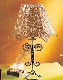 Crocheted Lamp Shade Cover combined with Distressed Metal Base! Lampe Crochet, Crochet Lampshade, Lamp Shades, Light Shades, Bottle Cap Projects, Lampshade Chandelier, Crochet African Flowers, Lamp Makeover, Lamp Cover