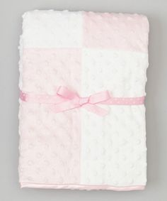 Look at this SpaSilk 30'' x 30'' Pink & White Minky Dot Blanket on #zulily today!