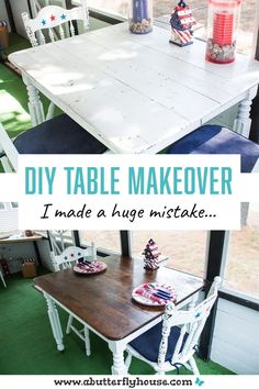 Don't make these mistakes when remodeling furniture! #DIY #DIYProjects #BeforeAndAfter #Furniture #Table #FurnitureFlips #AButterflyHouse Diy Table, How To Make, Handmade Table
