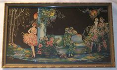 Reserved for Belle 1920's Art Deco Framed by EvenStephenAntiques