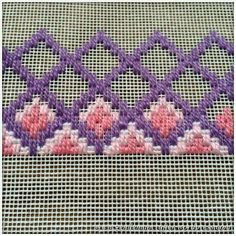 bargello embroidery patterns - start at 18 holes up. Broderie Bargello, Bargello Needlepoint, Bargello Quilts, Needlepoint Stitches, Needlepoint Canvases, Cross Stitches, Hardanger Embroidery, Cross Stitch Embroidery, Embroidery Patterns