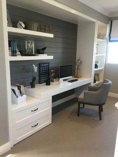 48 Trendy bedroom desk white built ins – Home Office Design Layout Home Office Space, Home Office Design, Home Office Decor, House Design, Home Decor, Office Designs, Tiny Office, Desk Space, Home Office White Desk