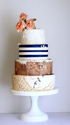 Jaime Gerard Cake Nautical Wedding Trinidad And Tobago Cakes
