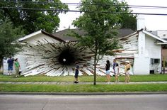 The house with the black hole