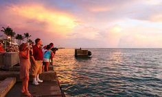 Mallory Square in Key West, Florida. 9 Best Sunsets in the World. What time is sunset at Mallory Square? Key West Vacations, What Time Is, Network For Good, Best Sunset, West Florida, Gods Creation, Vacation Places, My Happy Place, The Great Outdoors
