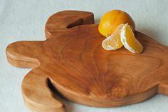 Turtle Shaped Cutting Board Cherry Centerpiece by jobemacstudios