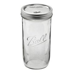 This 1 1/2 pint mason jar is the perfect size for canning longer veggies like asparagus, green beans, and long pickles. Also great for drinking glasses! Wide Mouth Mason Jar, 24 oz | Atlantis Hydroponics