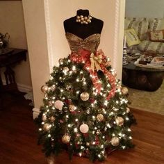 An elegant Christmas tree