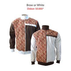 Brown or White? Beli dua-duanya dapat diskon 50.000* *berlaku s.d 19 Juli 2014  #jaketbatikmedogh  http://medogh.com/new-product?page=2