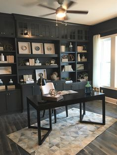 40 Amazing Home Office Design Ideas. Nice 40 Amazing Home Office Design Ideas. It is absolutely true that you will be draining more time in your home office if you work solely from […] Cozy Home Office, Home Office Colors, Home Office Space, Home Office Furniture, Home Office Decor, Home Decor, Small Office, Office Style, Office Inspo
