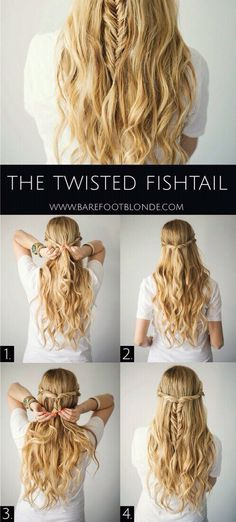 Twisted Fishtail Hairstyle