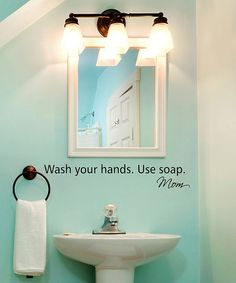 Black 'Wash Your Hands. Use Soap.' Wall Quote
