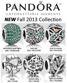 9dd4207b8 Pandora Fall 2013 collection at Jewels & More. The beautiful jewel tones  and the vibrant forest greens are definitely enchanting! The wise owl is  one of our ...