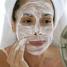 """No need for pricey derm treatments to perfect your complexion. It gently exfoliates the top layers of the epidermis, which can clear up blemishes and discolorations, and may even reduce fine wrinkles.""""    Try this DIY mask: Mix 1 cup Greek yogurt with 2 to 3 drops of almond or olive oil and a tablespoon of honey; apply to face, leave on for 20 to 30 minutes, then rinse and pat dry. Game Of Thrones Characters, Artwork, Fictional Characters, Daenerys Targaryen, Homemade Face Pack, Best Recipes, Fur, Faces, Home Remedies"""