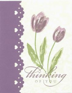Thinking of You by bzymomstamps - Cards and Paper Crafts at Splitcoaststampers - - Paper Cards, Diy Cards, Diy Paper, Paper Crafting, Flower Cards, Paper Flowers, Diy Flowers, Sympathy Cards, Greeting Cards