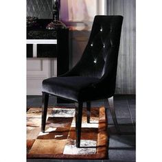 VIG Furniture - Armani Xavira Black Velour Dining Chair (Set of 2). Too expensive, but I can still look! (on sale for $845)