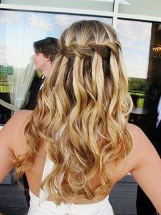 elegant wedding day braided style #hair #wedding