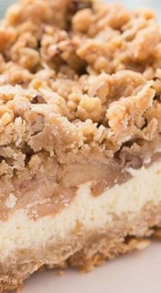 Ideas Cupcakes Recipes Cheesecake Desserts For 2019 Apple Crisp Cheesecake, Cheesecake Desserts, Apple Desserts, Pie Dessert, Apple Recipes, Easy Desserts, Baking Recipes, Delicious Desserts, Yummy Food