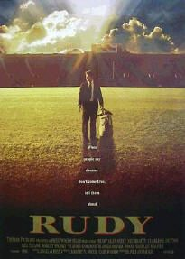 Rudy...another movie that brings tears to my eyes every time.