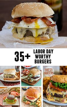 Labor Day is almost here and I can't wait to try some of these grilled burger recipes at out Labor Day cook out! Here are Labor Day Worthy Burgers. My Burger, Burger And Fries, Good Burger, Burger Recipes, Grilling Recipes, Beef Recipes, Cooking Recipes, Burger Ideas, Grilling Ideas