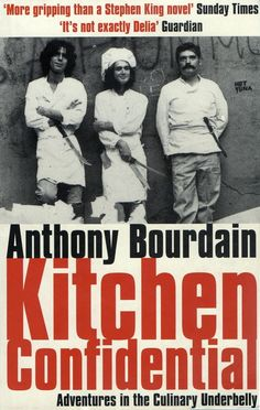 Anthony Bourdain - Kitchen Confidential. Great book on chefing, food, restaurants... made me want to go out and buy expensive knives!
