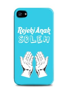 Rejeki Anak Soleh design by KacanGoreng Shop. This rejeki anak soleh iPhone case with blue color is sure eye catching. For iPhone 4,4s,5,5s,5c. Also available for samsung galaxy note 2 and 3, samsung galaxy s3 and s4. http://www.zocko.com/z/JHhXT