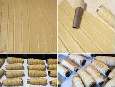 Rulouri din aluat fraged umplute cu cremă de vanilie Frosting Techniques, Arabic Food, Biscotti, Deserts, Cookies, Food, Arabian Food, Crack Crackers, Desserts