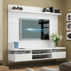 Entertainment units - evoque supawood floating tv stands for Tv Cabinet Design, Tv Wall Design, Tv Stands, Tv Wanddekor, Lcd Units, Floating Tv Stand, Tv Stand Designs, Tv Wall Decor, Piece A Vivre