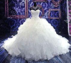 robe de mariée princesse en organza