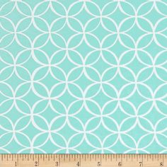Michael Miller Tile Pile Seafoam from @fabricdotcom  From Michael Miller, this cotton print is perfect for quilting, apparel and home decor accents.  Colors include aqua and white.