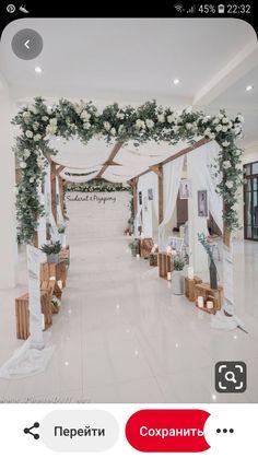 Ideas For Wedding Decorations Diy Reception Ceremony Backdrop Wedding Backdrop Design, Wedding Stage Design, Wedding Hall Decorations, Modern Wedding Reception, Wedding Reception Backdrop, Ceremony Backdrop, Elegant Wedding, Wedding Walkway, Wedding Entrance