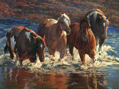 Horse painting by Karen Bonnie