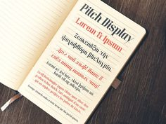 Best Pitch Display Typeface