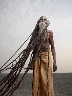 Old man with dreds