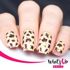 Whats Up Nails - Leaves Stickers & Stencils
