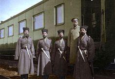 Tsar Nicholas II with Cossacks during World War I.  by ~KraljAleksandar