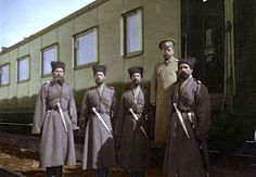 Tsar Nicholas II with Cossacks during World War I.  by ~KraljAleksandar