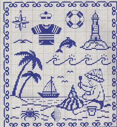 This is a great cross stitch block, Cross Stitch Sea, Cross Stitch For Kids, Cross Stitch Charts, Cross Stitch Designs, Cross Stitch Patterns, Cross Stitching, Cross Stitch Embroidery, Embroidery Patterns, Swedish Weaving