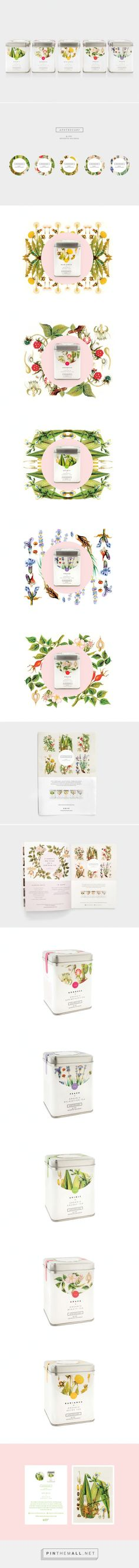 Lovely Apothecary Tea Packaging by Nude Design Studio for Seventh Dutchess…