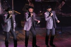 The Texas Tenors perform American country music as well as music from the country of Italy.