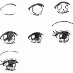 anime+step+by+step+drawing+eyes | How to draw anime eyes step by step pictures 2