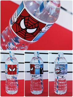 Superhero Collection Spiderman Water Bottle Labels by pinkadotshop, $6.00