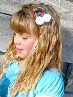 St. Patty's Day Rainbow Hair Clip Tutorial!