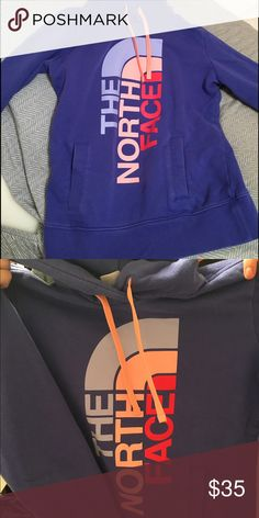 Women's north face purple sweatshirt Sweatshirt is a women's size small. It's in good conditions, only worn a few times. The North Face Tops Sweatshirts & Hoodies