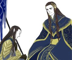 Elrond and Gil-Galad. Credits to the artist