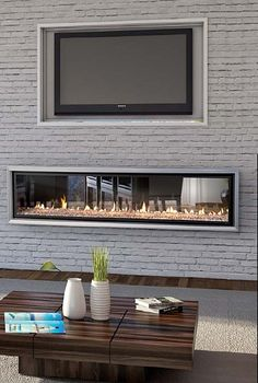 The Escea DX1500 see through, double sided inbuilt gas fireplace by Abbey Fireplaces.
