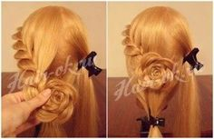 How To DIY Pretty Rose Braids Hairstyle 3