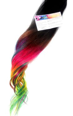 Clip In Rainbow Hair  Ombre Hair Extension  Weft by ArtisicStrands, $40.00